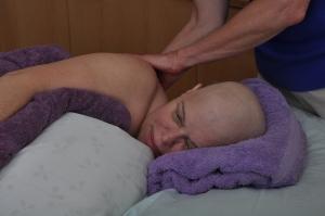 oncology massage client